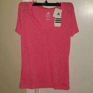 NWT Adidas pink dry fit shirt